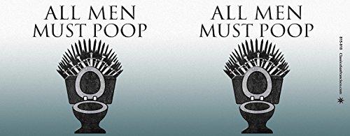 Amazoncom All Men Must Poop Game Of Thrones Spoof Novelty Toilet