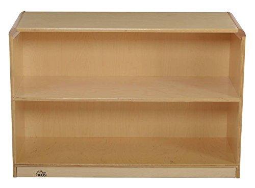 Korners for Kids 272164 Storage Cabinet All-Birch Veneer Panel 4-Coat UV Acrylic 2 Shelf 24-5/8 x 13-3/4 x 32-1/2 Natural Wood Tone [並行輸入品] B07B79QCQ9