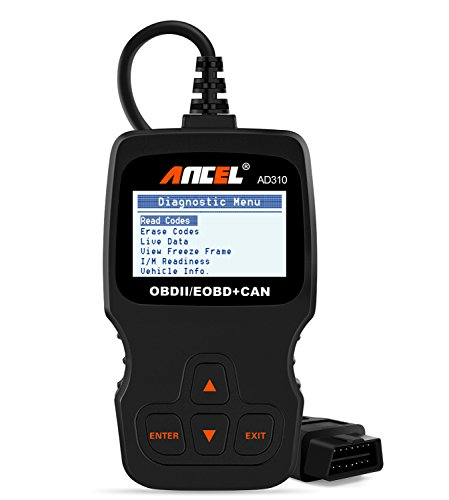 : ANCEL AD310 Classic Enhanced Universal OBD II Scanner Car Engine Fault Code Reader CAN Diagnostic Scan Tool - Black