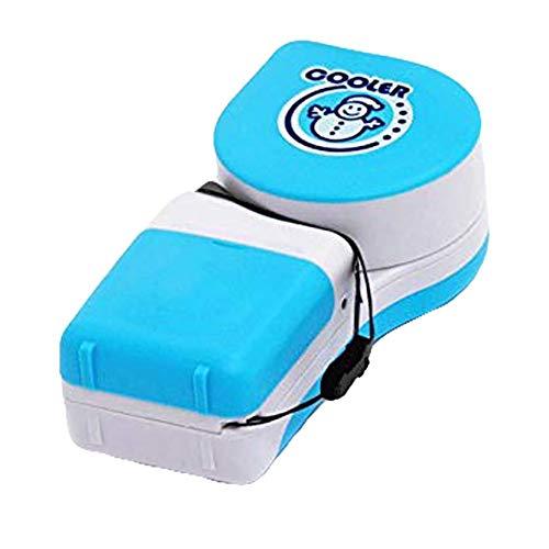 TTShonf Mini Snowman Adjustable Handheld No-Blade Student USB Cooler Fan Air Conditioner Blue