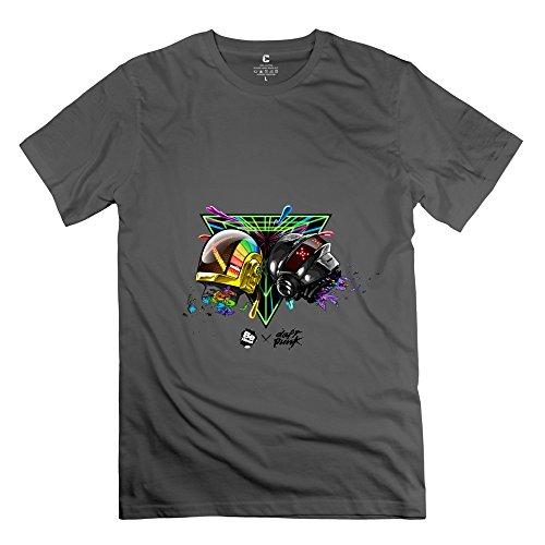 YIRONG Men's Daft Punk T-shirt Size XXL DeepHeather