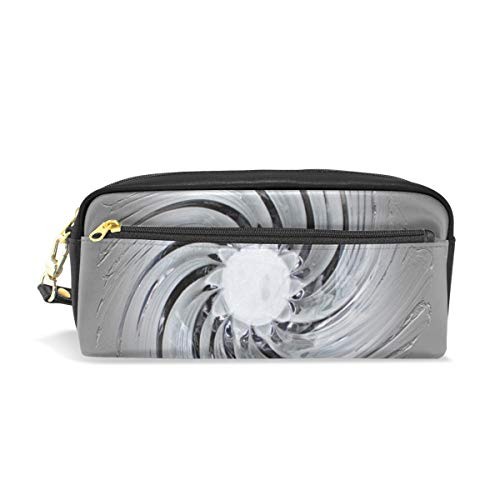 Jnseff Pencil Case Stylish Print Murano Glass Art Glass Bowl Glass Art Shell Art Pattern Large Capacity Pen Bag Makeup Pouch Durable Students Stationery Two Pockets with Double Zipper