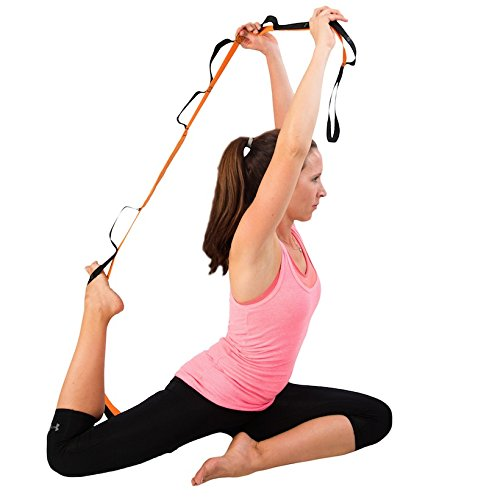 Yoga Strap With Stretching PDF Guide. Dynamic Multi Loop Elastic Yoga Strap will Increase Flexibility and Energy Levels by Product Stop