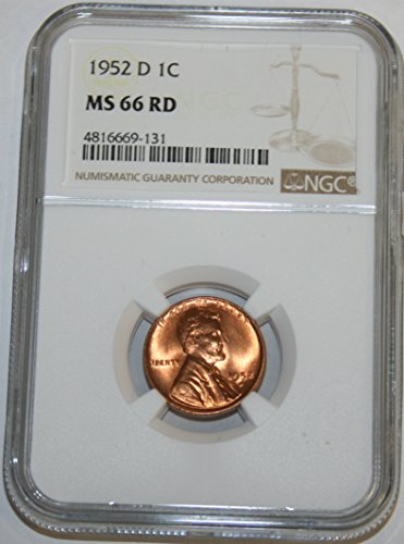1952 D Lincoln Cent Cent MS66 NGC RD
