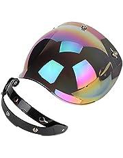 Motorcycle Helmet Lens,Motorcycle Retro 3-snap Sun Visor Shield Windproof Helmet Lens Colored