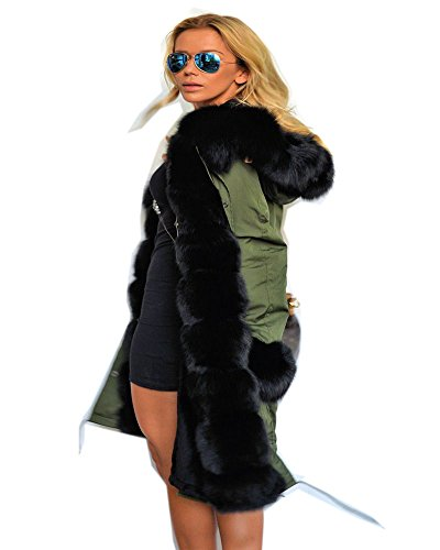 - Roiii Women's Winter Thicken Faux Fur Hooded Plus Size Parka Jacket Coat Size S-3XL