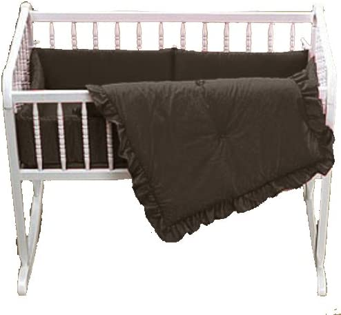 Baby Doll Bedding Solid Cradle Set, Chocolate by BabyDoll Bedding