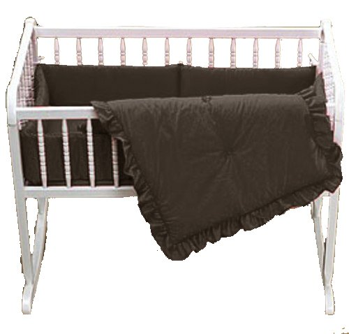 Baby Doll Bedding Solid Cradle Set, Chocolate