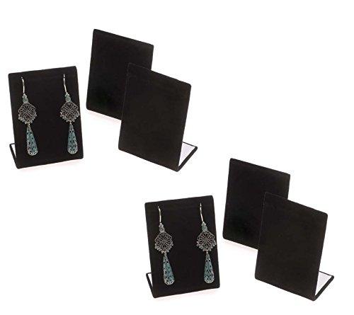 6-Pack Black Velvet Pendant Chain Necklace Display Stand 3.5