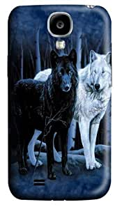 Black and White Wolves Polycarbonate Hard Case Cover for Samsung Galaxy S4/Samsung Galaxy I9500 3D