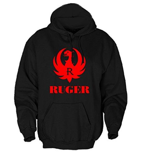 Ruger Eagle Men's Firearms Gun Black Hooded Sweatshirt - XLarge