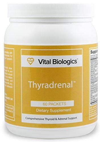 Apoyo integral de la tiroides y suprarrenales ayuda fórmula - Thyradrenal: diseñado para compatibilidad óptima función suprarrenal y tiroides. Por tanto fatiga suprarrenal y tiroides hipoactiva. 60 paquetes.