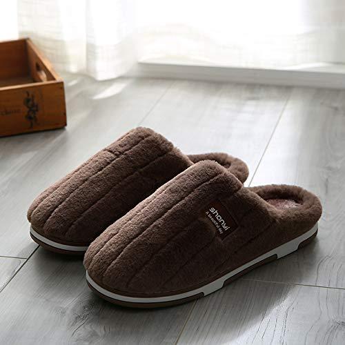 Chaud Mois Maison Anti Rayé C5 La En Coton dérapant m819 À Shoe Pantoufles café Qsy Couple qfwvz0n