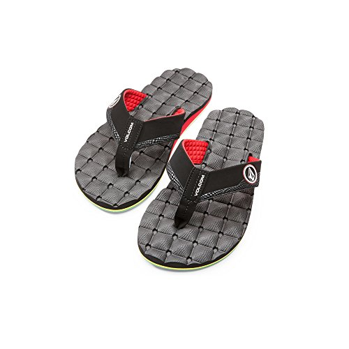 Volcom Men's Recliner Sandal Flip Flop - Jah - 8 D(M) US