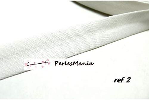 1 m cordón cinta sesgo lino algodón blanco 18 mm Ref 7140 color 2 ...
