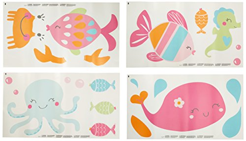 Carter's Sea Collection Wall Decals, Pink/Blue/Turquoise