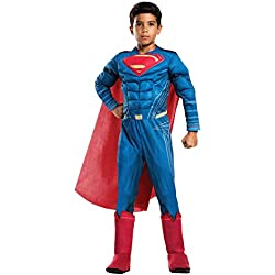 Rubie's Costume Boys Justice League Deluxe Superman Costume, Large, Multicolor