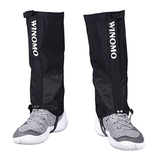 WINOMO Leg Gaiters Waterproof Snow Boot Cover Anti-Tear Oxford Fabric for Outdoor Hiking Walking Hunting Climbing Mountain by WINOMO