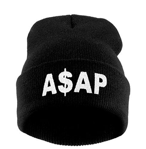4sold Beanie Hat Winter Warm Black Bad Hair Day Fun M/L (Asap) (Beanie Asap)