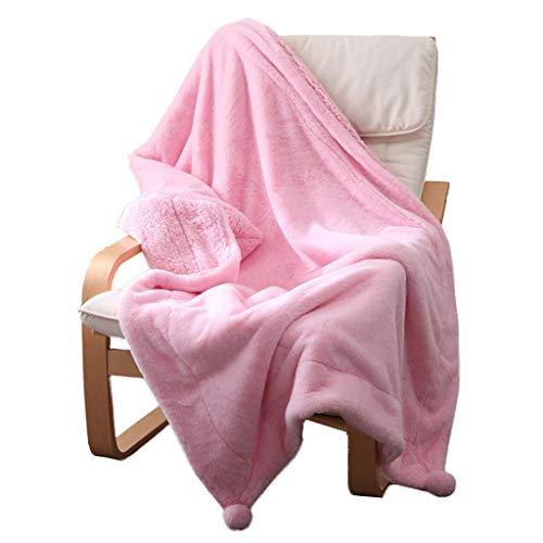 rose 150 × 200cm 1.45kg Couverture en molleton Coral La serviette individuelle était épaissie Jette Climatiseur Couette Couverture lestée pondérée Lit léger ou couverture (Couleur   rose, Taille   150 × 200cm 1.