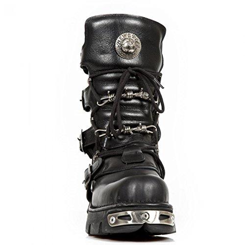 New Rock Boots M.393-c1 Biker Hardrock Unisex Stiefel Schwarz