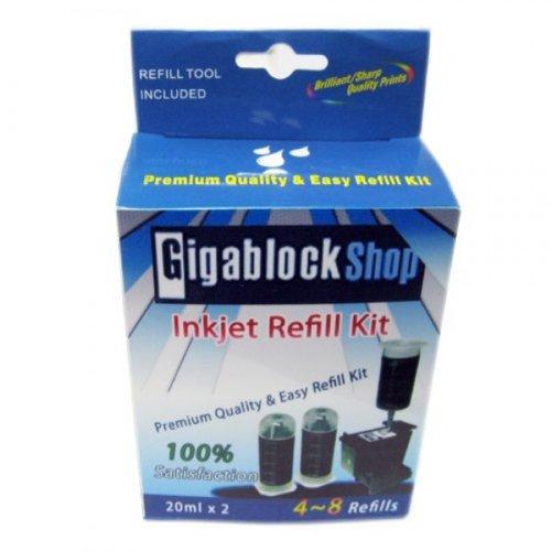 337 Black Inkjet (Gigablock Non OEM Pigment Black Inkjet cartridge Refill Kit for HP 96(c8767) 98(c9514) 129 130 337 339 851 853 and Samsung M120)