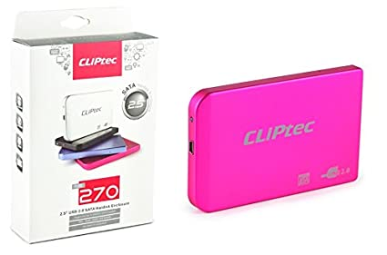 Carcasa externa de Disco HDD CLiPtec® USB SATA de 6,35 cm, con USB 3.0, cable de 9,5 mm 7 mm SATA. rosso USB 2.0 - 2.5