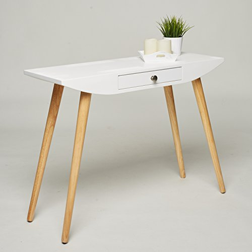 Console Table / Dressing Table / Desk   White Wood   100 X 35 X 75 Cm    Hallway Sideboard Modern Scandinavian Design Retro Look: Amazon.co.uk:  Kitchen U0026 ...