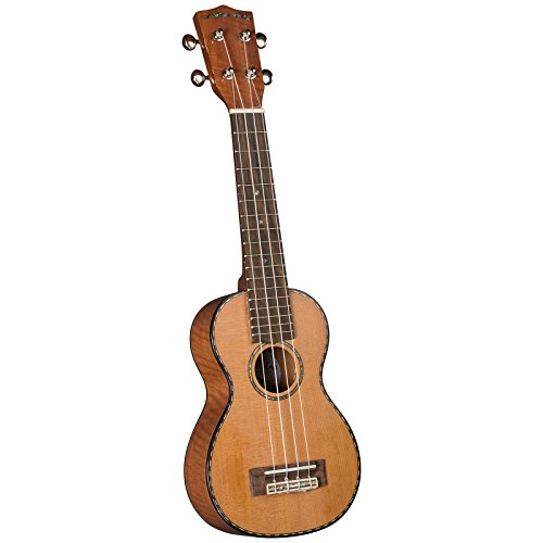 Four Cedar (Diamond Head DU-400 Solid Cedar & Flamed Mahogany Soprano Ukulele Outfit)