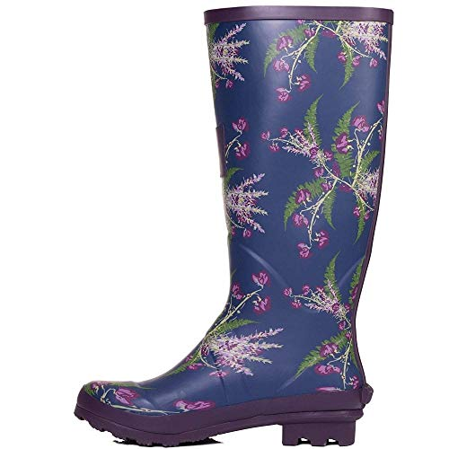 Festival Rain FBA Flower Colours Wellie Wellington Onlineshoe Leaf Boots Funky Flat Assorted qXYwxf4