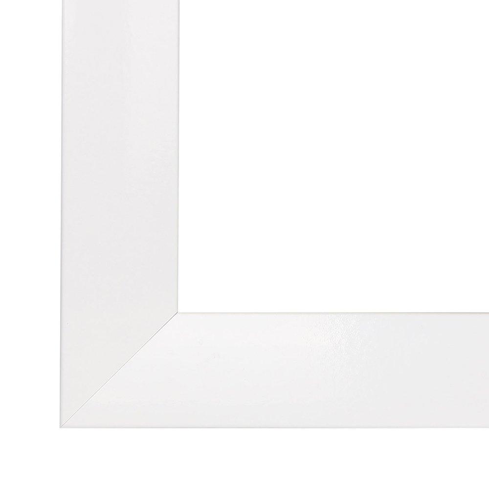 Cornice, Cornici dei quadri, 130x90 portafoto OLIMP, 90x130 cm o 130x90 quadri, cm in BIANCO LUCIDO, normale vetro artificiale (A-Pet), senza antiriflesso cornice in MDF rivestiti di un foglio decorativo, 35 mm di larghezza c89391