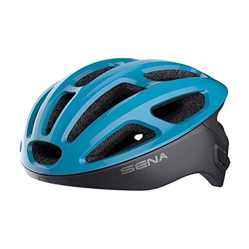 Sena R1 Smart Cycling Helmet (Ice Blue, Medium)