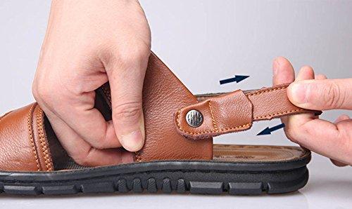 A Deportivas Vendaje Pies Expuestas Aire Los Libre Viaje Hombres Playa Verano Sandalias Pescadores De Zapatos Caminar Cuero Al Transpirables 1Uq6qWn4