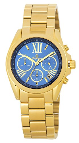 Burgmeister Women's Quartz and Stainless-Steel-Plated Casual Watch, Color:Gold-Toned (Model: BM337-237)
