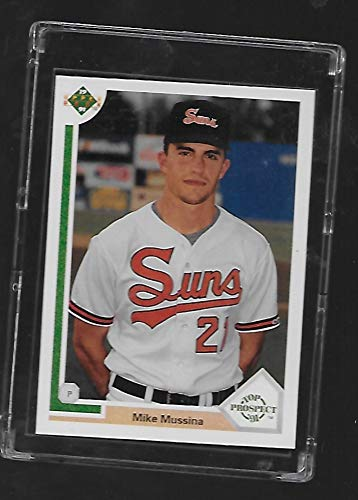 Mike Mussina 1991 Upper Deck Baseball Rookie Card #65 - Rochester Suns - Stored in a Protective Plastic Display Case!!