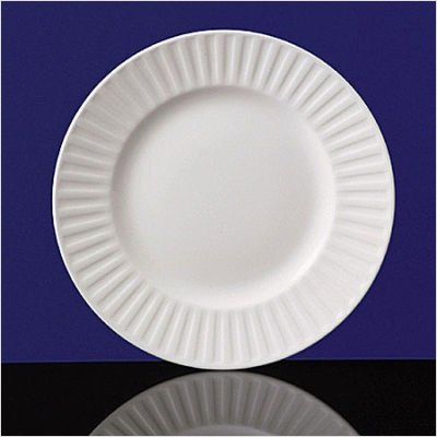 Plate Fluted Salad - Wedgwood Night & Day Bone China Fluted Salad Plate