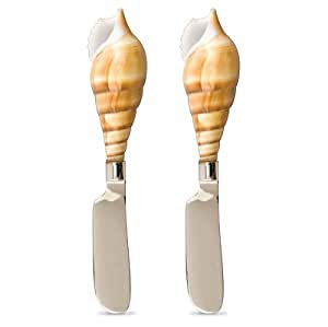 Auger Seashell Cheese Spreaders - Set of 2
