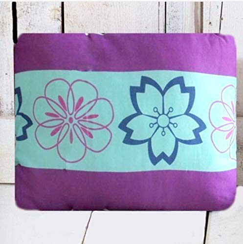 Paisley Pony Girls Purple Blue and White Floral Oblong Toss Pillow 14
