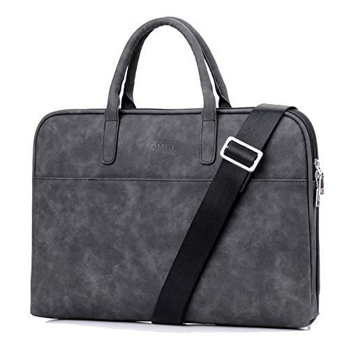 YiYiNoe Laptop Tote Bag Business Briefcase for Women Lady 15.6 inch Water Resistant Computer Handbag with Dismountable Strap,Black