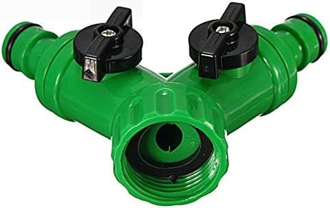 Cleme - Manguera de Agua roscada de 34 Pulgadas y Adaptador de césped para jardín, Conector rápido de 2 vías (3 4 Pulgadas Verde), No nulo, Verde, 3 4inch: Amazon.es: Hogar