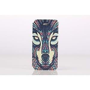 WQQ dibujo coloreado o patrón caso de cuerpo completo con soporte y tarjeta de la ranura para el iphone 5 5s