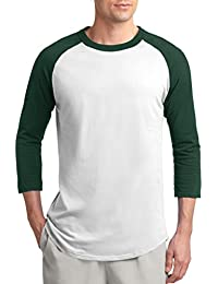 Unisex Men's Emoticon 3/4 Sleeve Raglan Baseball Tee Sizes XS to 6X