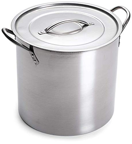 IMUSA USA L300-40317 Stainless Steel Stock Pot 20-Quart, - Steel 5 Gallon Stainless Pot