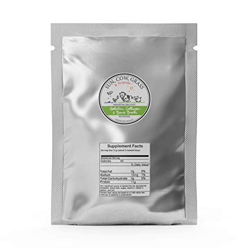 Bone Broth Gelatin Powder – Gelling Type – Pure Protein Organics 2 lb