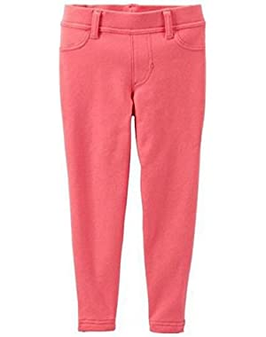 Baby Girls' Knit Jeggings (Baby) - Coral