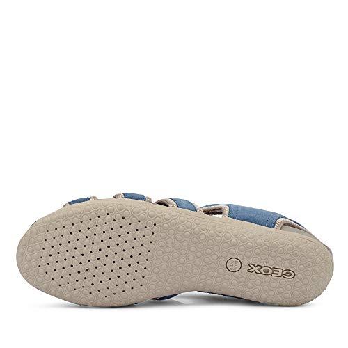 Sandal Vega Cerradas Grey Mujer Sandalias lt avio C4453 Geox Azul D pwqZ5a
