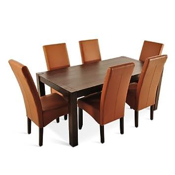 Sam Esszimmer Tischgruppe 7tlg Palisander Dunkel Siam 175 Cm 6 X