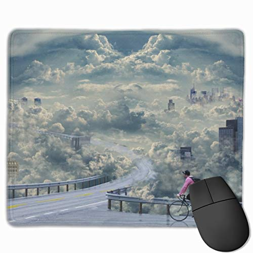 Yuotry Smooth Mouse Pad, Cloud Day Bicycle Mobile Gaming Mousepad Work Mouse Pad Office Pad