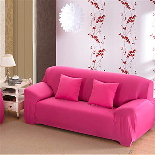 ChairoZiMi Three All-Inclusive Generic Leather Sofa Cushion Sofa Cover Towel Universal Custom Summer Full Cover1pcs Pink Single seat Sofa - Cotton Slipcover Headboard