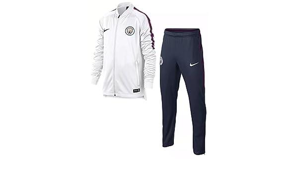 Chandal Nike Manchester City 2017-2018, Color Blanco / Azul Marino ...